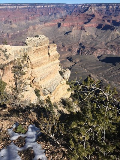 Grand Canyon Grand Canyon National Park Mather Point Nature Beauty In Nature Tranquility Scenics - Nature Day Land Tranquil Scene