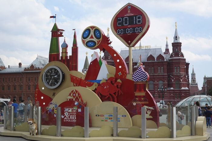 FIFA World Cup Russia FIFA World Cup Of 2018 FIFAWorldCup2018 Moscow Kremlin Moscow, Москва State Historical Museum Moscow WeekOnEyeEm Architecture Building Building Exterior City Cloud - Sky Communication Day Dog Fifa2018 Information Installation Large Group Of People Outdoors Red Road Sign Sky Symbol World Cup 2018