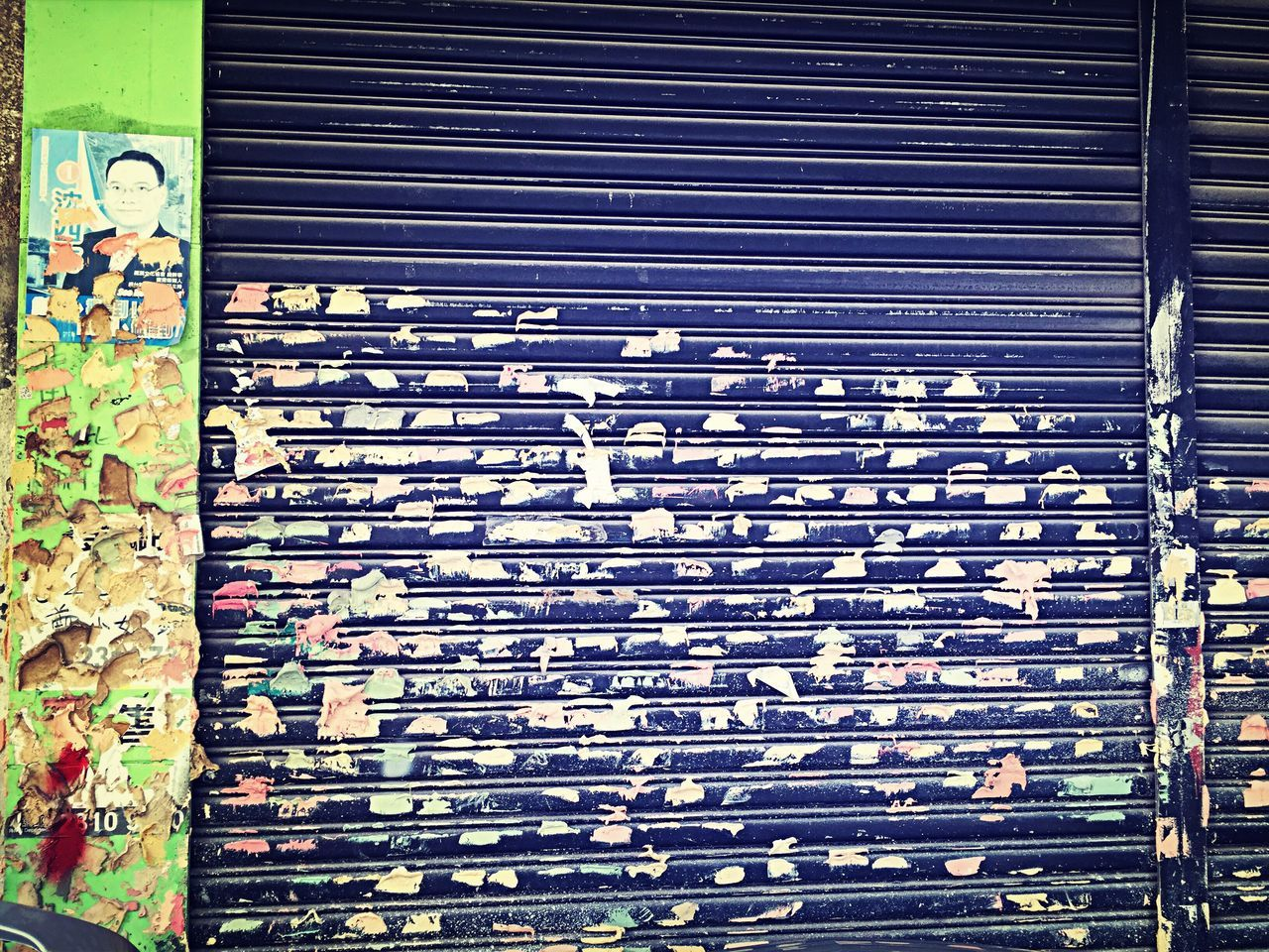 metal, day, outdoors, no people, pattern, shutter, corrugated iron, architecture, built structure, close-up