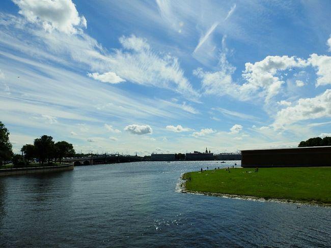 Petropavlovskayafortress Water Neva River Cloud - Sky Deep Blue City Day Sunny Day 🌞 Colors Of Sankt-Peterburg Summer Memories 🌄 Sankt-Petersburg Russia