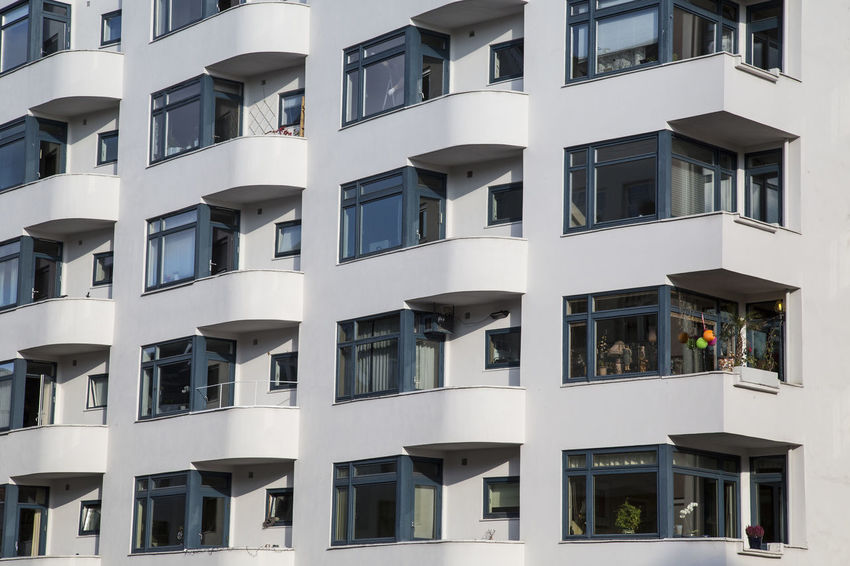 Apartment Architecture Balcony Building Exterior Building Story Built Structure City City Life Day Development Façade Full Frame No People Office Building Oslo Norway Outdoors Repetition Residential Structure Window