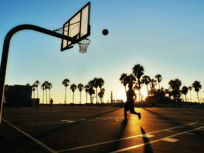 Venice Beach Basketball Sunset Beach Sport Silouette The Great Outdoors - 2016 EyeEm Awards Summer Exploratorium