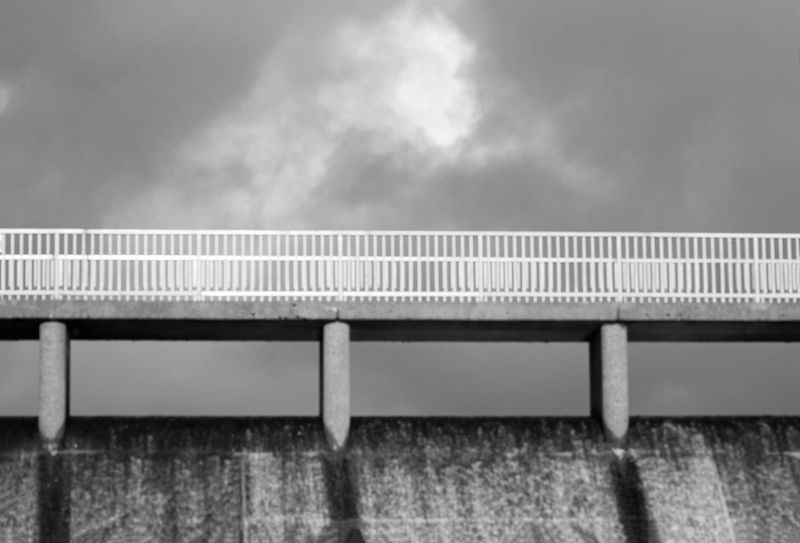 Ladyphotographerofthemonth 3XPSUnity Black And White Resovoir Railing Bridge - Man Made Structure Cloud - Sky Weather Outdoors Sky Nature No People Day Storm Cloud Close-up