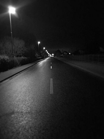 Night Illuminated Transportation Road Car Lighting Equipment Street The Way Forward Street Light Outdoors No People Nature