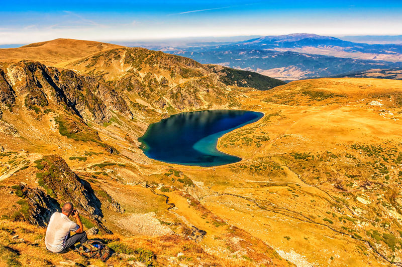 Kidney lake, one of the seven rila lakes