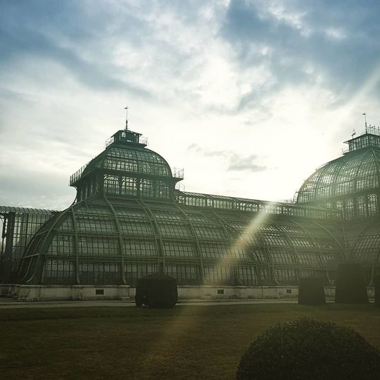 Vienna Palmenhaus Sunshine Schönbrunn Dome Cloud - Sky Architecture Travel Destinations Sky Built Structure Day No People City Outdoors