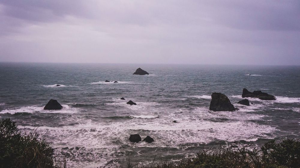 Stronger than stone. Beauty In Nature Sea Nature Scenics Horizon Over Water Sky No People Outdoors Beach Adventure Miles Away Oregon Beauty Lifestyles ExploreEverything Outdoors Photograpghy