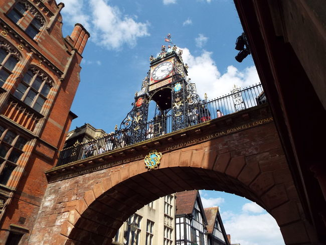 Historical Sights Blue Sky And White Clouds Blue Sky White Clouds Clock City Historical City Arch Eastgate Railings City Walls The Essence Of Summer
