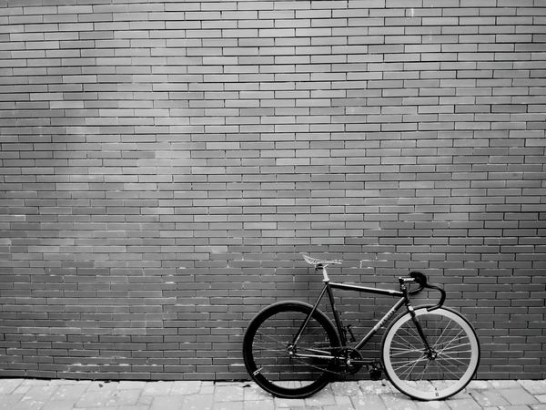 just black and white, cause of a balance EyeEm Best Shots Bycicles Fixedgear Beautiful Wall Art Sepia Art Spaces