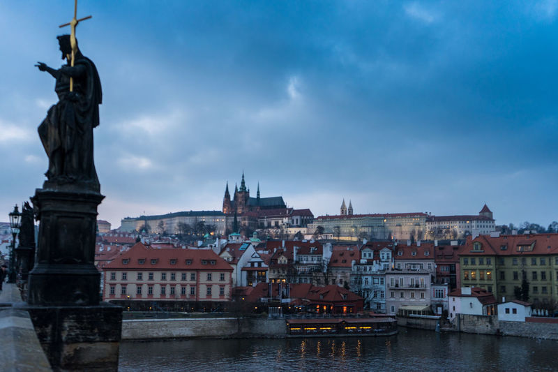 Karlův Most Architecture Building Exterior Built Structure City Cloud - Sky Day History Human Representation Karlsbrücke Nautical Vessel No People Outdoors Sculpture Sky Statue Transportation Travel Destinations Water Waterfront