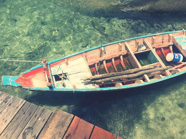 Boat on the island of Koh Tao Fishing Island Bluewater Thailand Sea