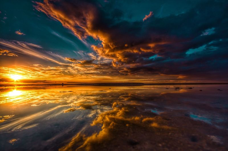 Afternoon light Water_collection Water Reflections Queensland Brisbane Orange Sky Wellington Point Sky Water Sunset Sea Cloud - Sky Dramatic Sky Scenics - Nature Reflection Beauty In Nature Beach Nature Environment Tranquility Motion Horizon Over Water Horizon Landscape Outdoors