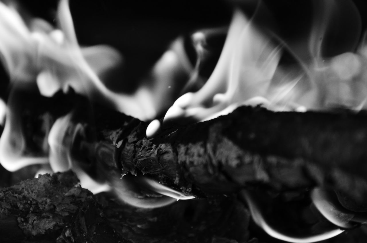 close-up, burning, selective focus, smoke - physical structure, flame, food and drink, food, indoors, no people, freshness, ready-to-eat, day