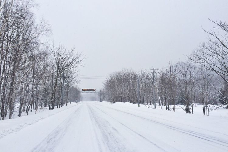 Snow Driving Street Landscape