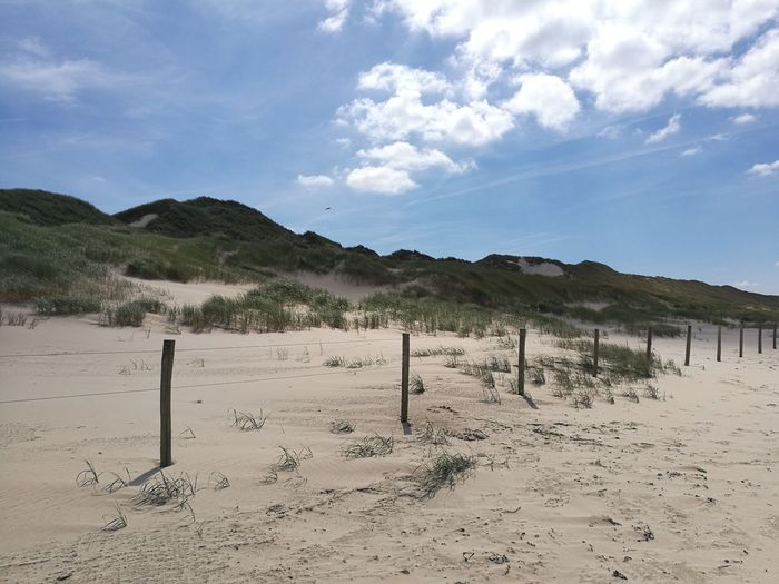 Sand Beach Protection Cloud - Sky Landscape Outdoors Summer Vacations Beauty In Nature Sand Dune Holland❤