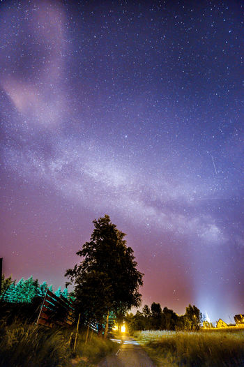 Milkyway above Street Cosmos Galaxy Nightphotography Travel Adventure Astronomy Beauty In Nature Galaxy Kacper Landscape Long Exposure Michalik Milky Way Nature Night Outdoors Space Star - Space Universe Wallpaper Hd