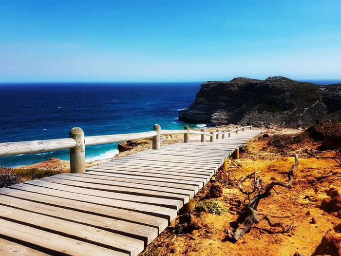 Footwalk to the Cape of Good Hope Sea Horizon Over Water Beach Water Clear Sky Nature Sky Outdoors Scenics Tranquility No People