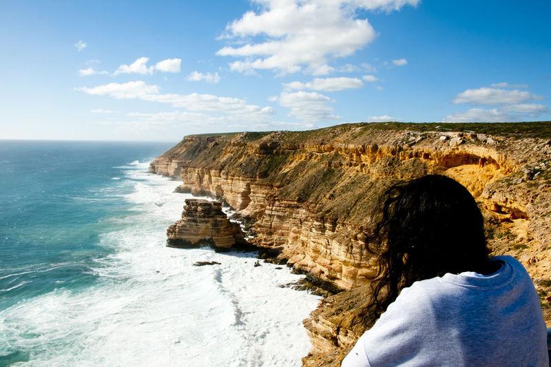 Kalbarri Cliffs Coastline Australia Coastline Island Rock Kalbarri Western Australia Sandstone