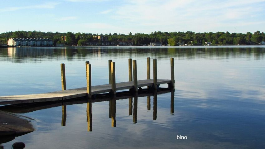 Early Morning Around The Lake Tranquil Scene Smooth Water From The Pier Reflections Lake Cadillac Pure Michigan