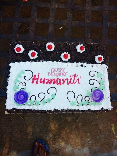 Humanity... My birthday cake