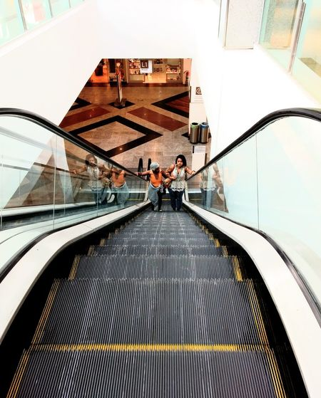 the escalator Shopping ♡ Eyeem Market Architecture Architectural Design Adventures In The City Modern Men Steps And Staircases Staircase Futuristic Steps Sky Architecture Built Structure Building Exterior Escalator Moving Walkway  Footbridge