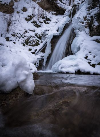 Little Brother Winter Snow Slow Shutter Long Exposure Mik Magyarország Hungary Miskolc Waterfall Lillafüred