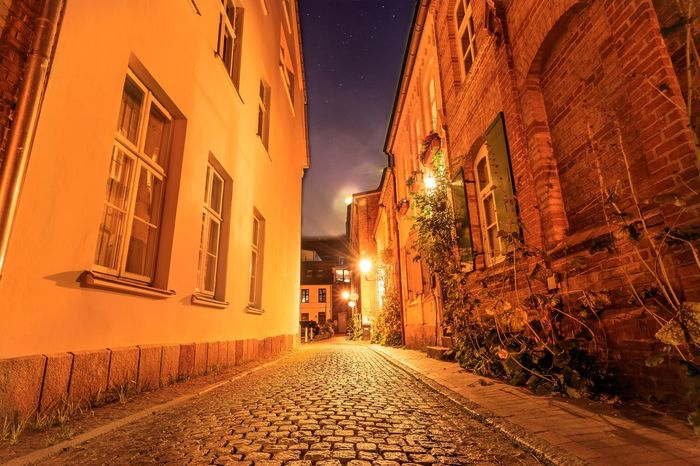 Politics And Government Sky Cityscape No People Built Structure Travel Destinations Illuminated Architecture Night Rostock. My Home, My Love! Rostock 2017