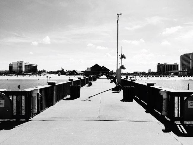 Sky Water Building Exterior Built Structure Architecture Reflection City Cloud - Sky Day Waterfront The Way Forward Canal In Front Of Harbor No People Diminishing Perspective Tranquility Residential District Blackandwhite Tourist Walking Around Taking Photos Outdoors Tourism Pier60