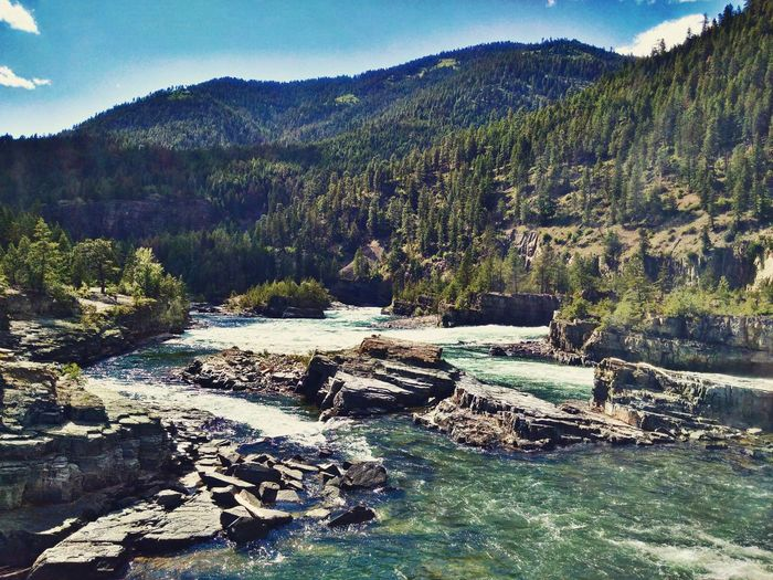 Bridge Kootenai Falls Kootenai River Libby Montana Montana Rapids River Rocks Rocks And Water Suspension Bridge Swinging Bridge Waterfall