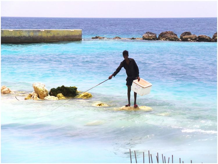 Fishing Fisherman Maldives Landscape_Collection