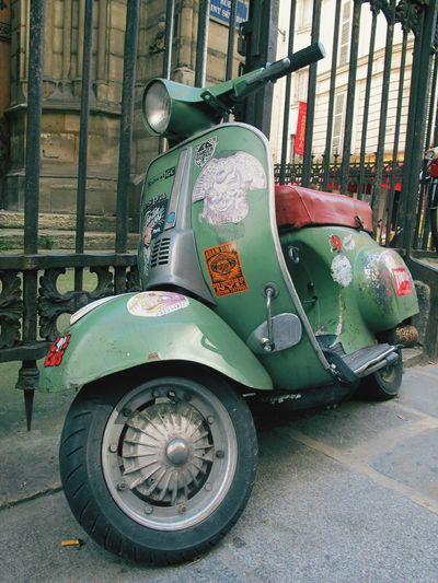 Classic Vespa Mode Of Transportation Transportation Land Vehicle Day Motor Vehicle Car City No People Street Architecture Built Structure Retro Styled Stationary Building Exterior Travel Parking Outdoors Wheel Metal