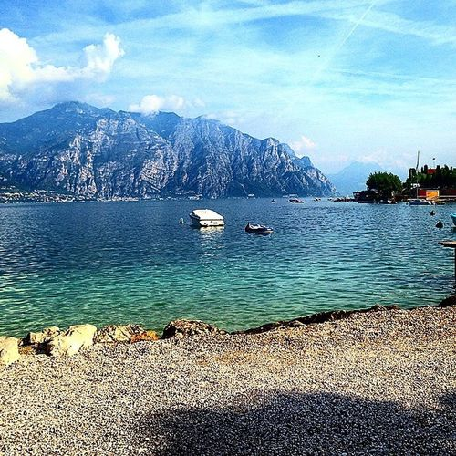 Italy Lake View Landscape_photography LakeGarda Italy❤️ Malcesine Jamesbond Lakeside Mirror Water Reflections Gopro Mountains Mountain View Mountain_collection Italianstyle From My Point Of View Enjoying The View Relaxing Amazing View Luxury Worldplaces Worldphotos