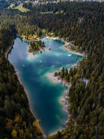 Beauty In Nature Day High Angle View Hot Spring Lake Mountain Nature No People Outdoors Physical Geography Scenics Sky Tranquil Scene Tranquility Tree Water