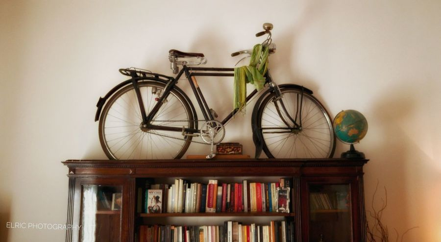 Indoors  Home Interior Book Bookshelf No People Home Showcase Interior Mobilephotography HuaweiP9 Bicycle Books Bookstagram Books, Books And Books.