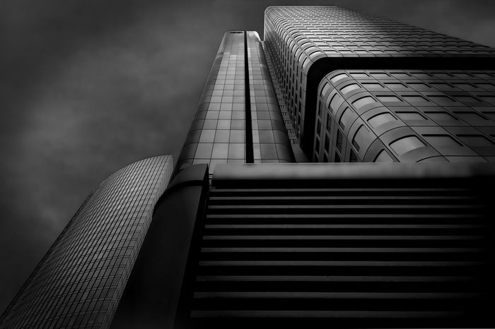 Silver Tower Architecture Blackandwhite Building Building Exterior Built Structure Cloud - Sky Fashion Modern Monochrome No People Silver  Silver Tower Sky Skyscraper Tower