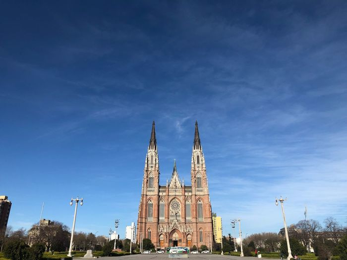 Cathedral of la plata against blue sky