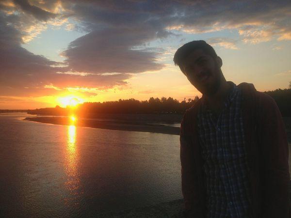 Its Me First Eyeem Photo Turkey Meriç Eskilerden Sunset Only Men One Man Only Water One Person Silhouette Cloud - Sky