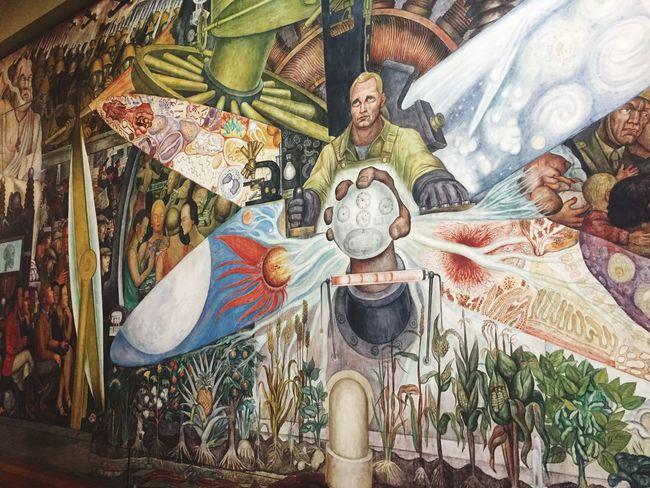 Diego Rivera Murales Hello World Enjoying Life ♥ Gratitude Magic Paceful Art Enjoying Life On The Road Life Is Perfect Road Palacio De Bellas Artes  MuralismoMexicano