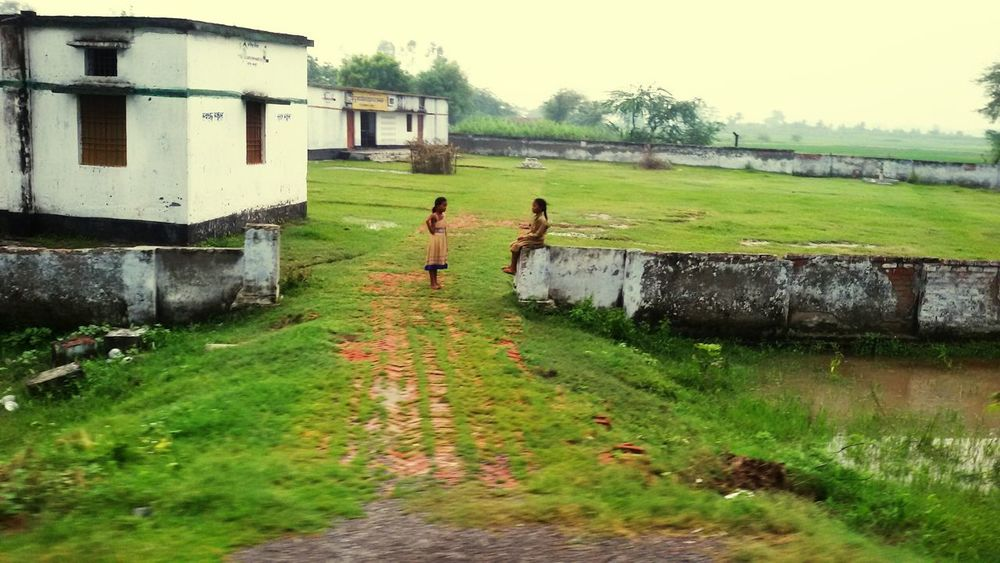 BetiBachaoBetiPadhao Water Green Color Nature Grass Outdoors Day No People Backgrounds Nature Village Life Poor People  Girls School Primary School Gaaaaaw! Being Ugly  Education Women Of EyeEm Women Empowerment Educational