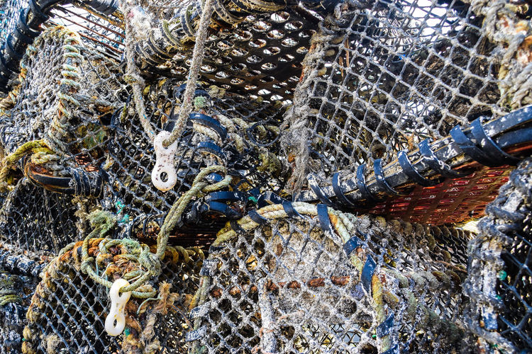Cadgwith Cornish Village Low Angle View Commercial Fishing Net Cornish Fishing Fishing Industry Lobster Pots No People Outdoors Pattern Patterns Seafood The Lizard The Lizard Cornwall