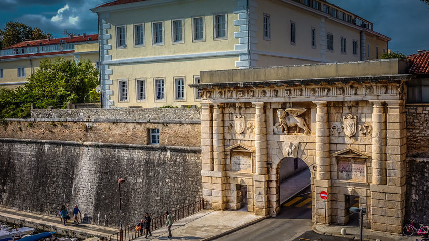 Land Gate in Zadar, Croatia Croatia Entrance Entrance Gate Gate Sightseeing Zadar Zadar,Croatia Architecture Building Building Exterior Buildings Built Structure City Landmark Landmark Building Outdoors Real People Sights Sky Town
