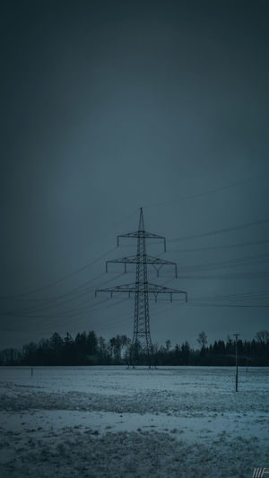 Snow Winter Cold Temperature Sky Technology Electricity Pylon Electricity  Scenics - Nature Nature Beauty In Nature Environment Fuel And Power Generation Tranquil Scene Covering Land Cable Tranquility Power Line  Field No People Power Supply Outdoors