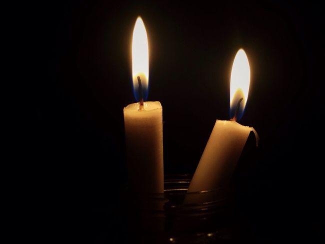 Flame Burning Candle Heat - Temperature Illuminated Glowing Fire Lit Darkroom Lighting Equipment No People Wax Black Background Indoors  EyeEm Best Shots EyeEmNewHere