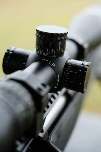 Close-up of rifle