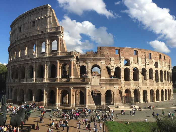 Neighborhood Map Rome Architecture Tourism Famous Place Large Group Of People Building Exterior Arch Tourist Travel Destinations Lifestyles Leisure Activity Travel Person Sky Culture Capital Cities  History International Landmark Ancient Rome Colloseum In Rome Colloseum Colloseo