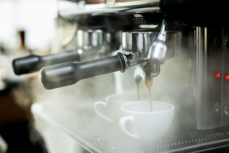 Close-up of coffee cups
