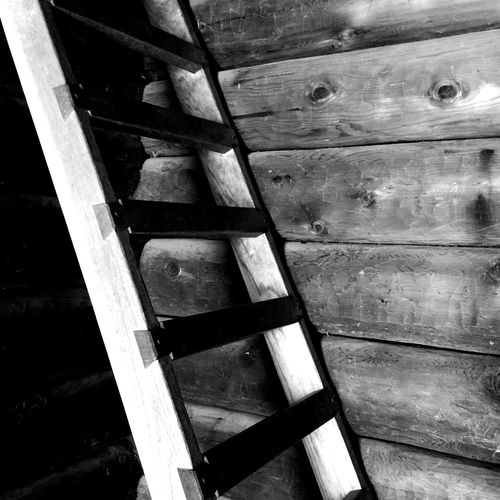 Fort Ross Ladder Wooden House Log Cabin Stairways Creative Light And Shadow Shades Of Grey