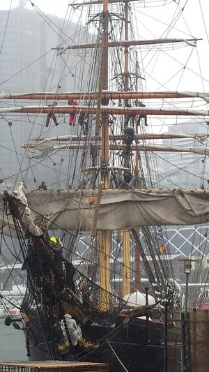 Samsung Galaxy S4 The Purist (no Edit, No Filter) James Craig Tall Ships Ropes Sydney, Australia Cluttered Harnes Hights
