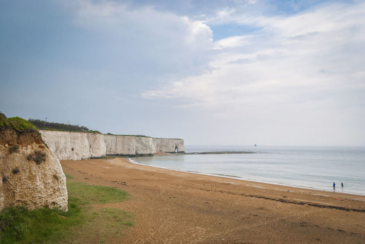 Joss Bay, near Broadstairs, Kent, England. Britain British Chalk Cliffs English Countryside Kent Natural Thanet Arch Beach Beauty In Nature Chalk Cloud - Sky England Kent England Kentlife Land Non-urban Scene Sand Scenics - Nature Sea Seaside Sky Southeast Visitkent Water