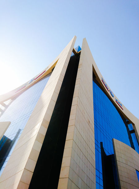 Arab National Bank Building, Al Khobar Architecture Built Structure Low Angle View Building Exterior Sky Clear Sky Building City Office Building Exterior Office Bank ANB Bank Arab National Bank Al Khobar Saudi Arabia Middle East Bank Building Building Facade Façade